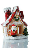 House Santa Claus — Stock Photo
