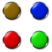 Hrome button — Stock Photo
