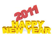 Inscripción feliz año nuevo y el 2011 — Foto de Stock