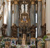 Interior of ancient church — Stock Photo