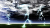 Lightning strike — Stock Photo