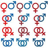 Female & Male Symbol — Stock Photo