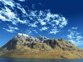 Mountain - island — Stock Photo