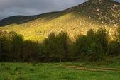 Hory a slunečního záření — Stock fotografie