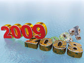 New year 2009 - concept — Stock Photo