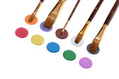 Paintbrush and paint — Stock Photo