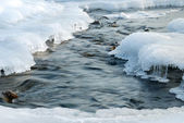River in ice — Stock Photo