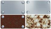 鉄のラベルのセット — ストック写真