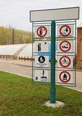 Set of warning signs — Stock Photo