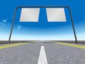 знак - индекс на дороге — Стоковое фото