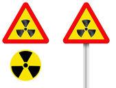 Sign radiation — Stock Photo