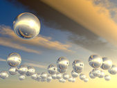 Spheres with reflection — Stock Photo