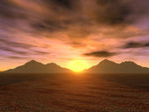 Sunset mountains — Stock Photo