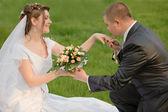 Yeni evli çift — Stok fotoğraf