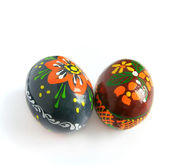Two easter painted egg — Stock Photo