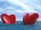 Two heart — Stock Photo