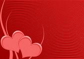 Two heart postcard — Stock Photo