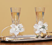 Wedding glasses — Foto Stock