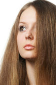 The beautiful girl with long healthy hair — Stock Photo