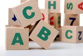 Wood alphabet — Stock Photo