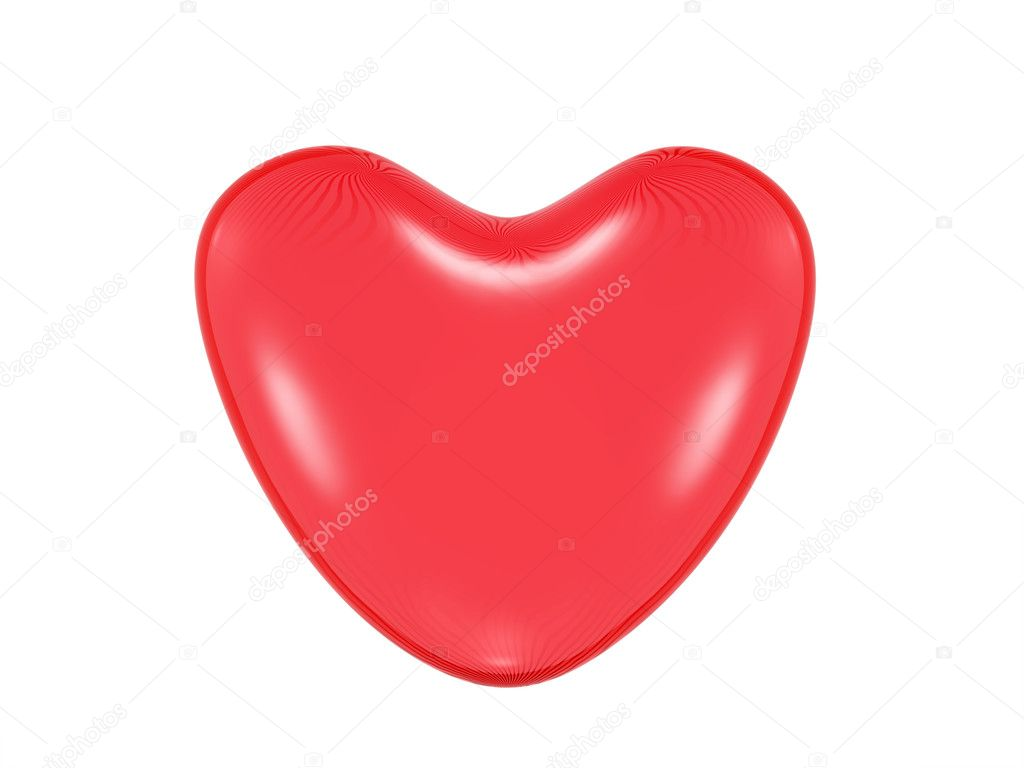 Glass heart. Isaolatet on white background — Stock Photo #6193733
