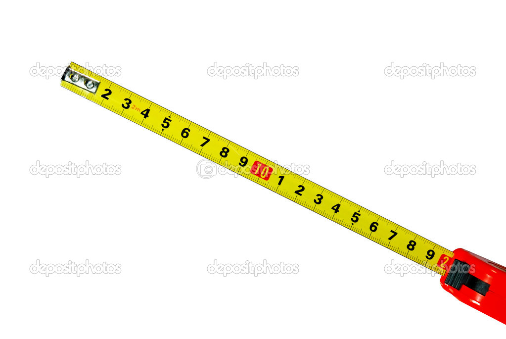 Measuring ruler (the visible size of 20 sm) in the red case — Stock Photo #6195037