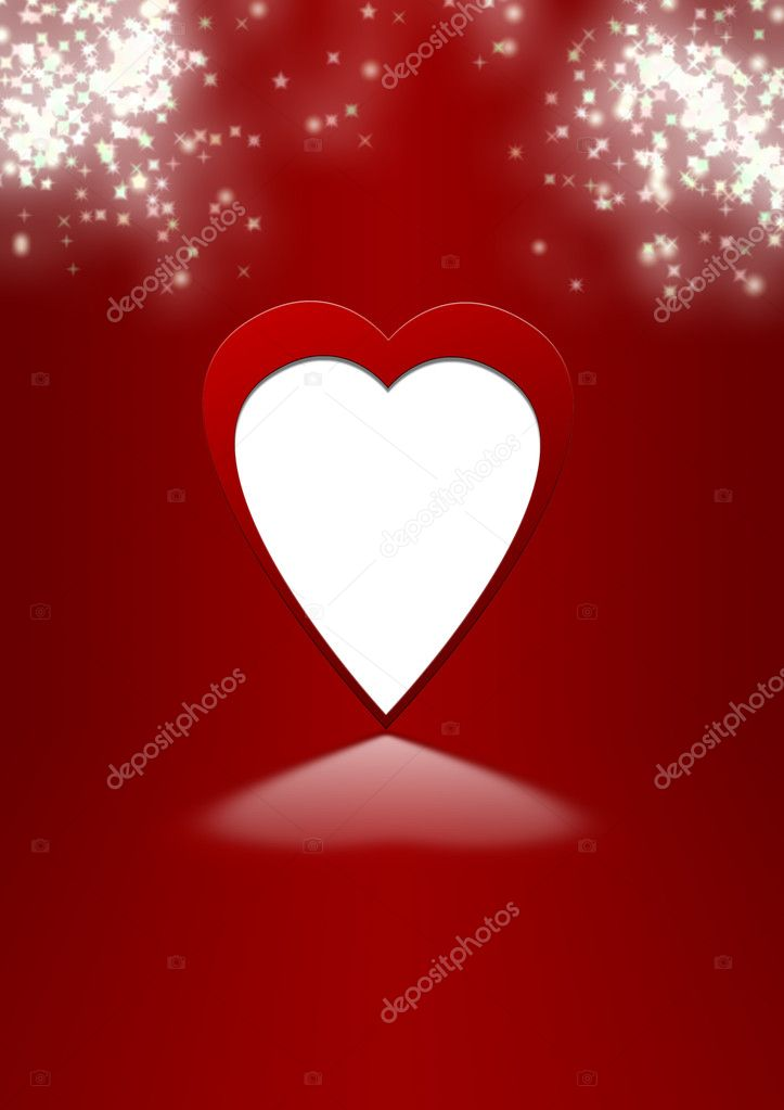 Card to the Valentine's day (heart on a stylish background with shine stars) — Stock Photo #6196490