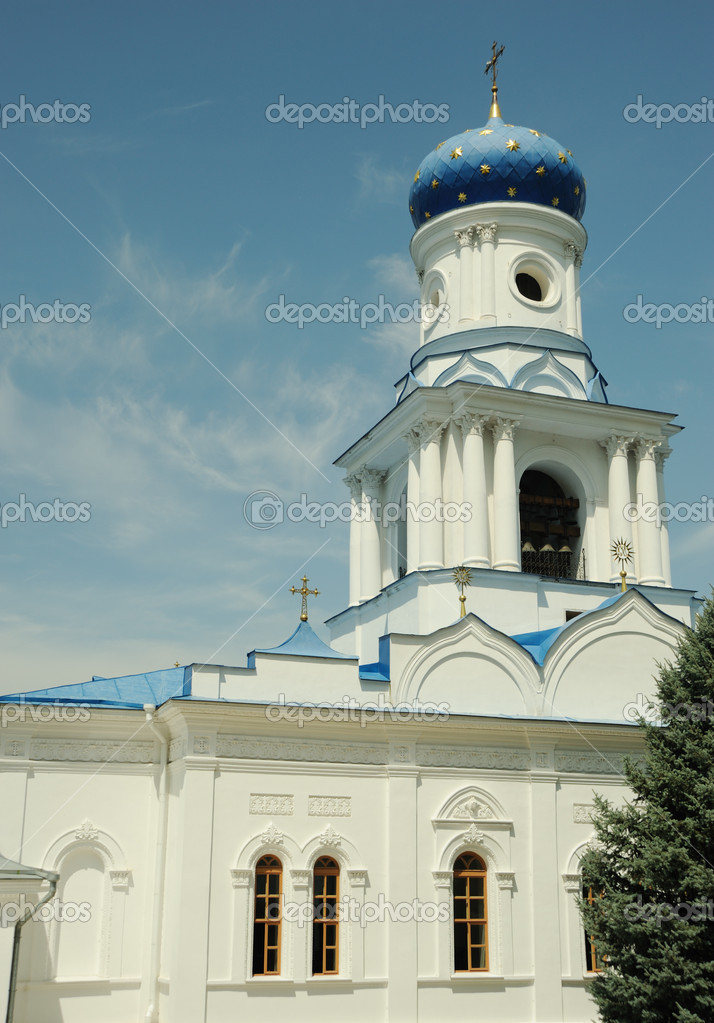 Dome of orthodox church. Svyatogorsk laurels. Ukraine  Stock Photo #6197406