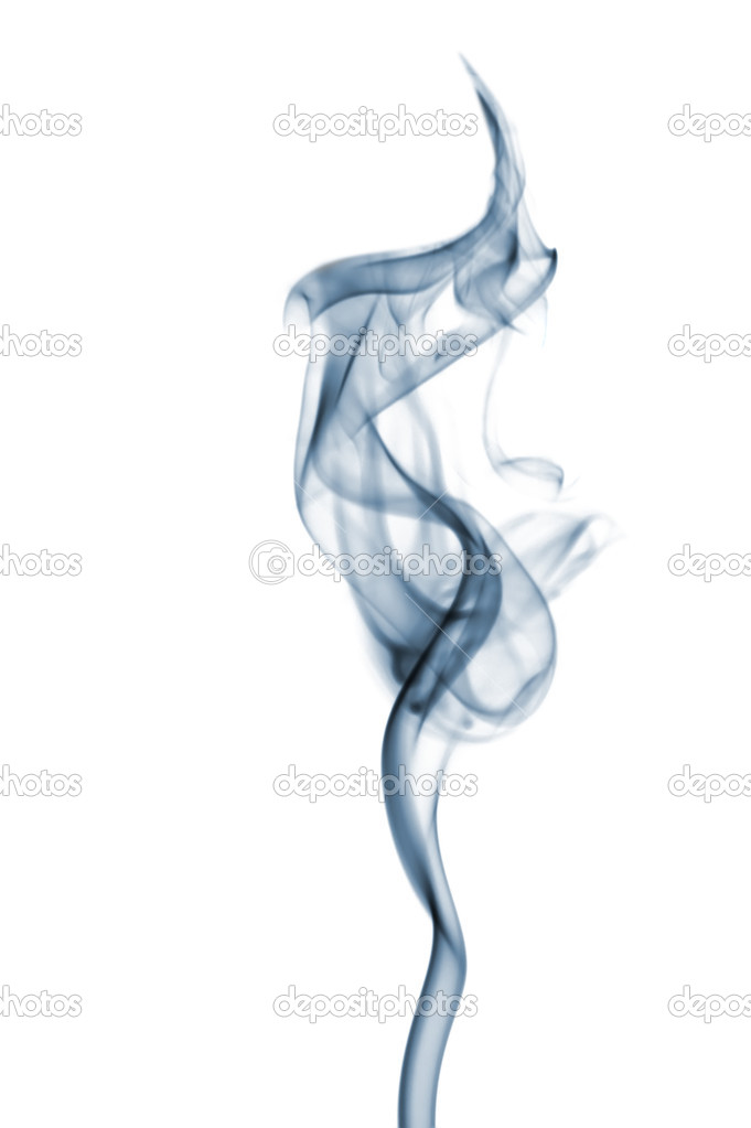 Smoke. The abstract image of a smoke on a black background  Stock Photo #6197444