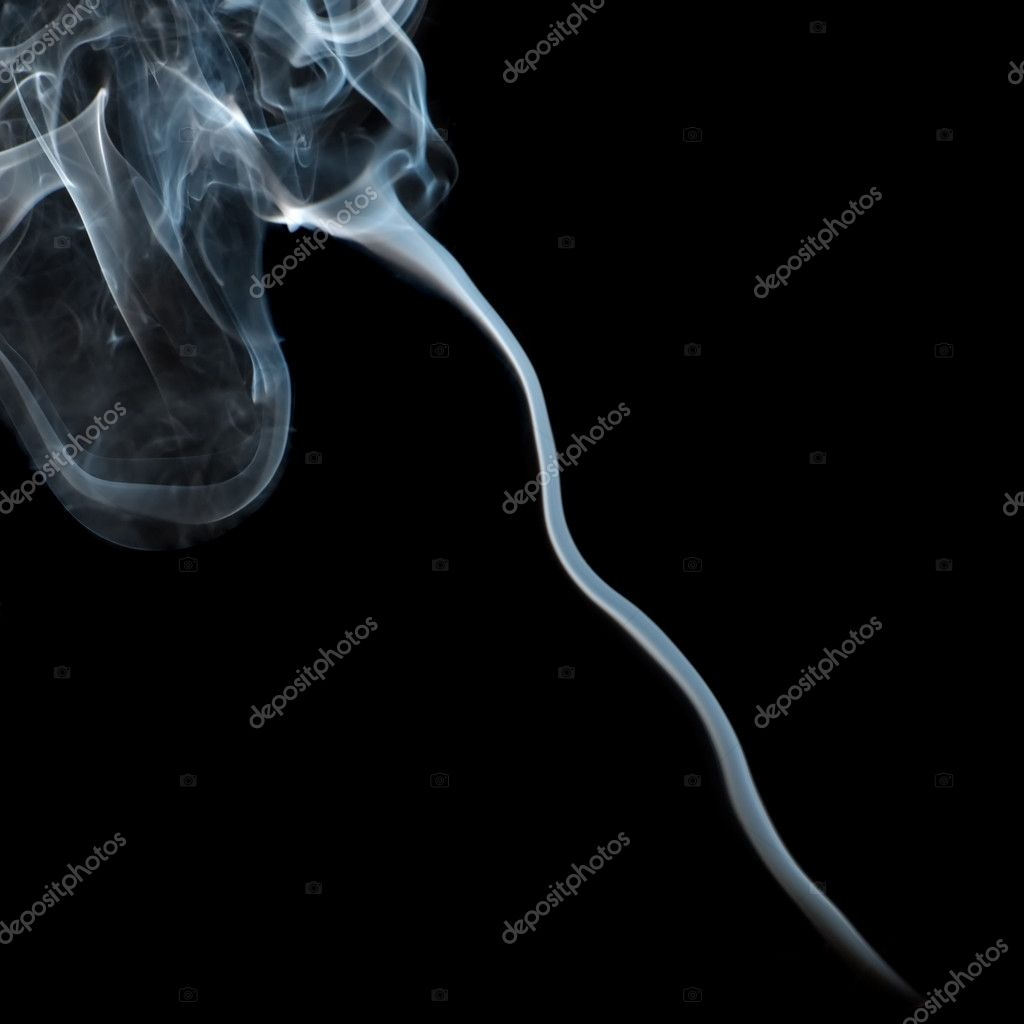 Smoke from black background. The abstract image of a smoke on a white background — Stock Photo #6197445