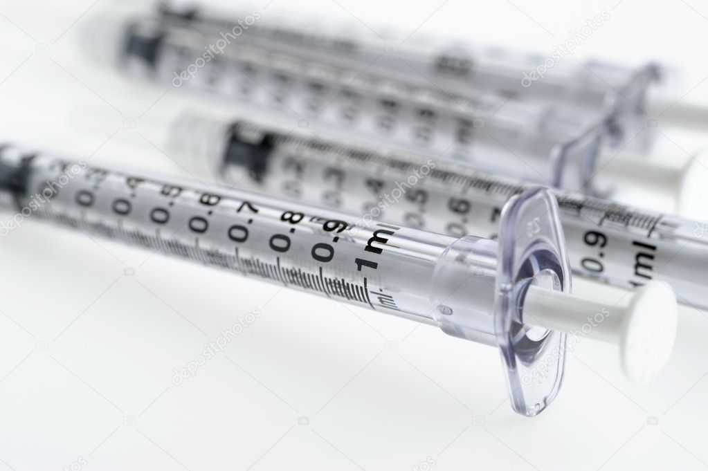 Syringe. The medical tool intended for injections  — Stock Photo #6197915