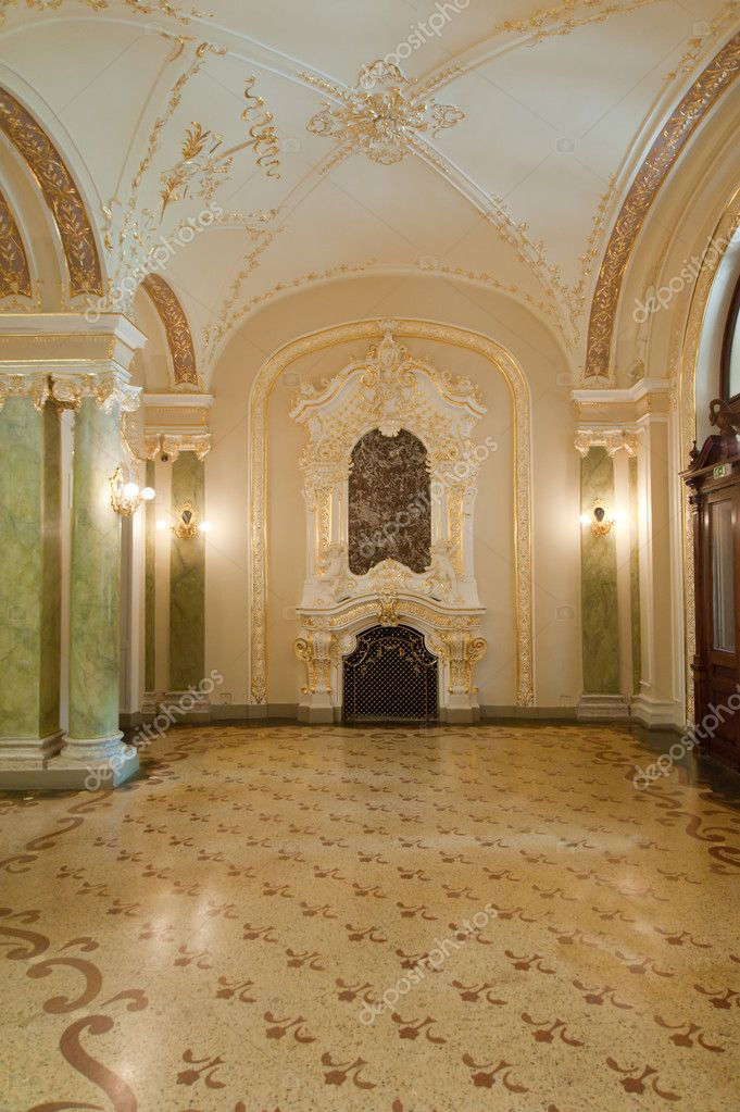Luxury room. An interior of opera theatre. Odessa, Ukraine — Stock Photo #6198735