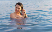 The girl in water — Stock Photo