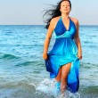 Royalty-Free Stock Photo: The attractive woman exit the sea