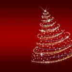 Christmas tree from snowflakes — Stock Photo