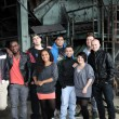 Group of nine young from different backgrounds — Stock Photo #5654546