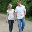 Young couple on a walk — Stock Photo
