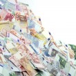 A large pile of euro notes — Stock Photo