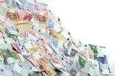 En stor hög med eurosedlar — Stockfoto