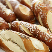 Fresh bread and rolls — Stock Photo