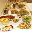 Buffet of various dishes — Stockfoto