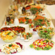 Buffet of various dishes — Stock Photo