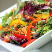 Mixed fresh salad of various vegetables - — Stock fotografie