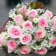Rose-colored bouquet of pink roses — Stock Photo