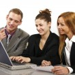 Friendly team working in the office — Stock Photo