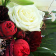 Close-up of white roses and lilies — Stock Photo #6726878