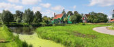 Panoramic view on dutch village. — Stock Photo