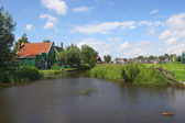 Zaanse Schans - small dutch vilage. — Stock Photo