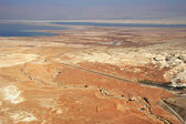Aerial view on desert and Dead Sea. — Stock Photo
