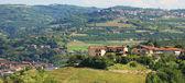 Case sulle colline del Piemonte, Nord Italia. — Foto Stock